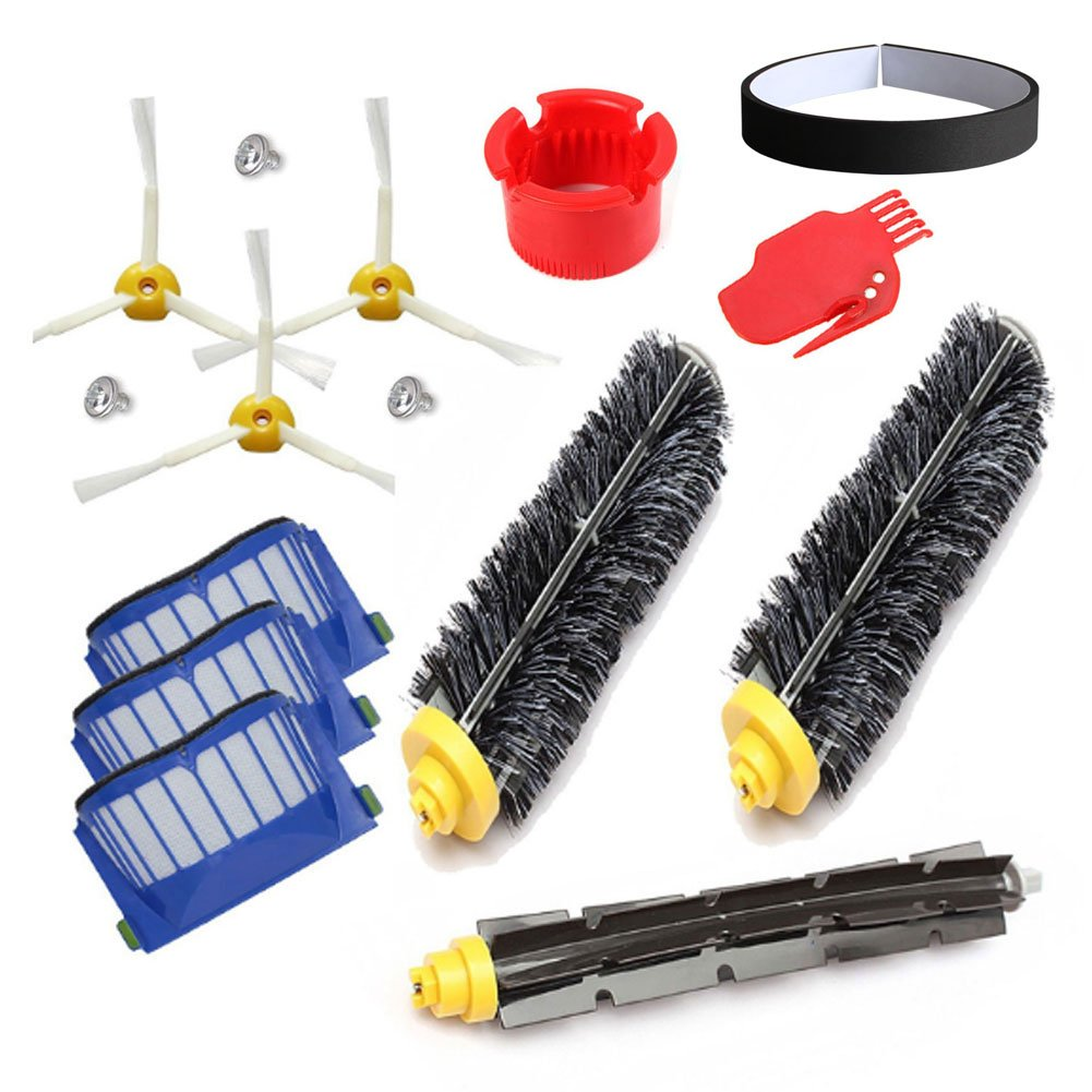 Cepillos Reposición de Accesorios para Aspiradoras iRobot Roomba Serie 600 56708 552 585 620 630 650 660--un Conjunto de 15