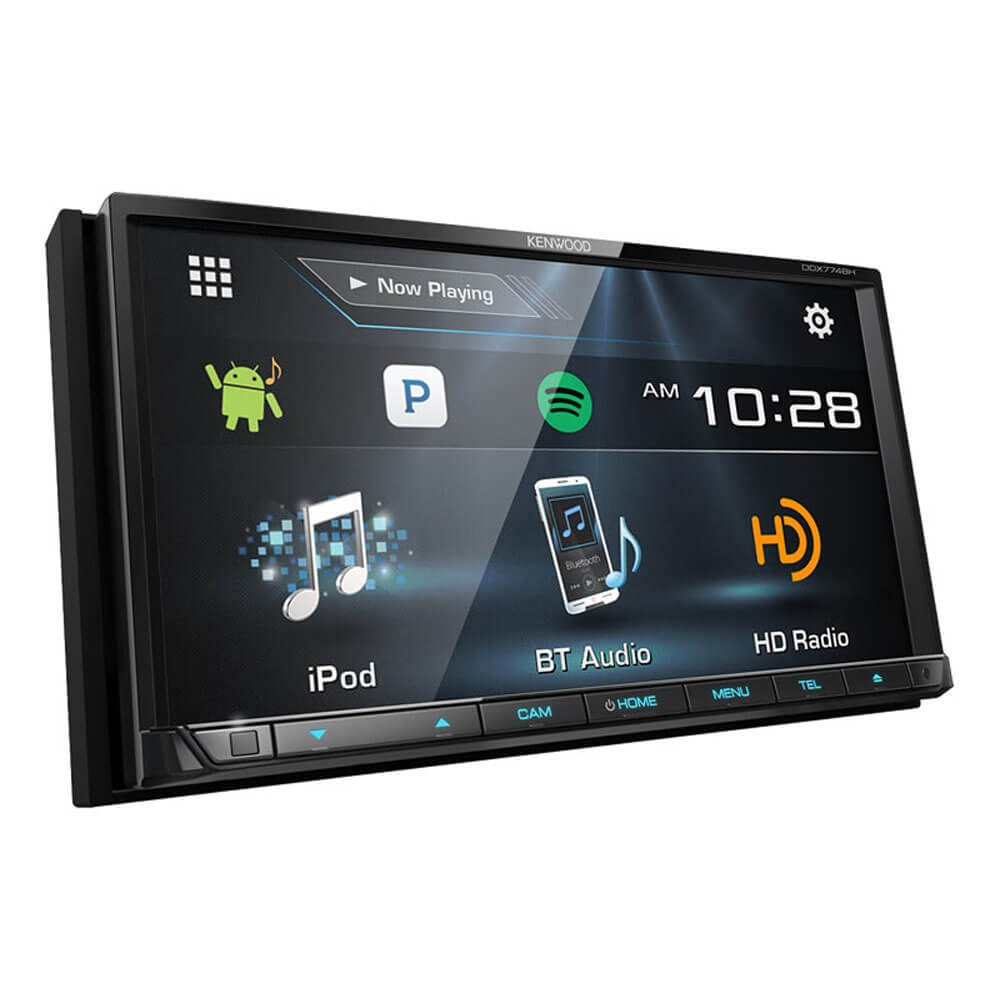 Kenwood Ddx774 Ddx774bh 2 Din Receiver W How To Wire A Radio Bluetooth And Hd Car Electronics