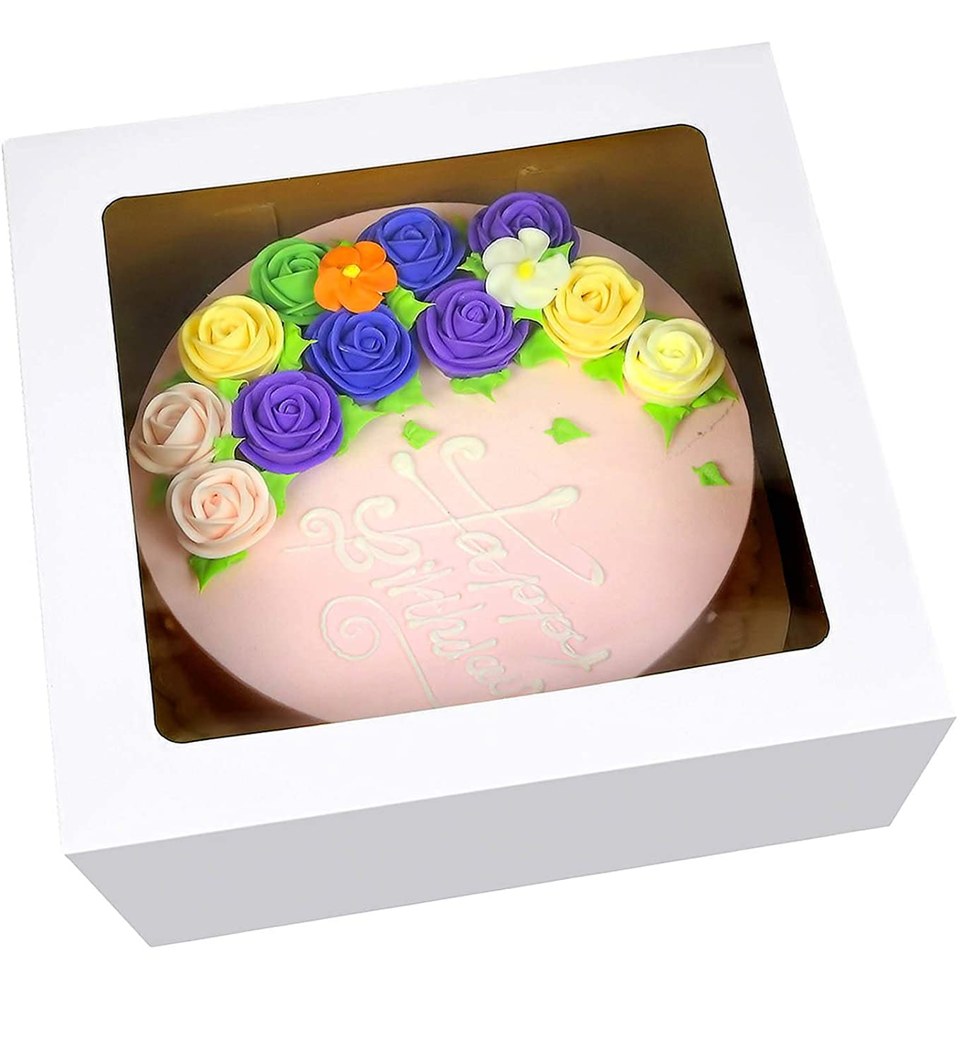 """Paperboard Cake Bakery Box Non Corrugated Restaurant 12/"""" X 12/"""" X 5/"""" 100 Pack"""