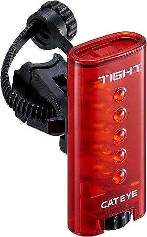 キャットアイ(CAT EYE) テールライト TIGHT 防水 IPX7相当 点灯約120時間 ロングライドに最適 走行中の振動に強い頑丈なボディ TL-LD180-R