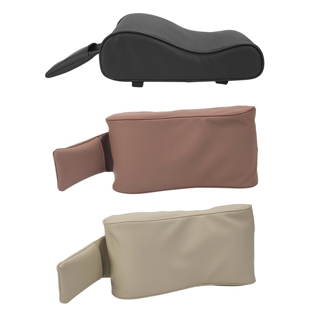 Color:Black YTCYKJ Universal Car Interior Armrest Pad Armrest Box Mat PU Leather Armrest Box