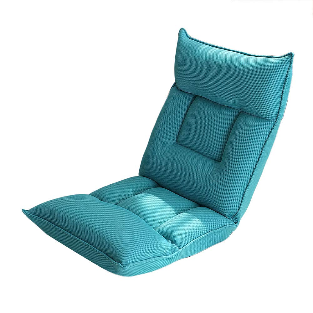 E Sofa Folding Lazy Floor Sofa Chair Dormitory Bed Computer Chair Living Room Balcony Leisure Chair - Multi-Angle Adjustment (color   B)