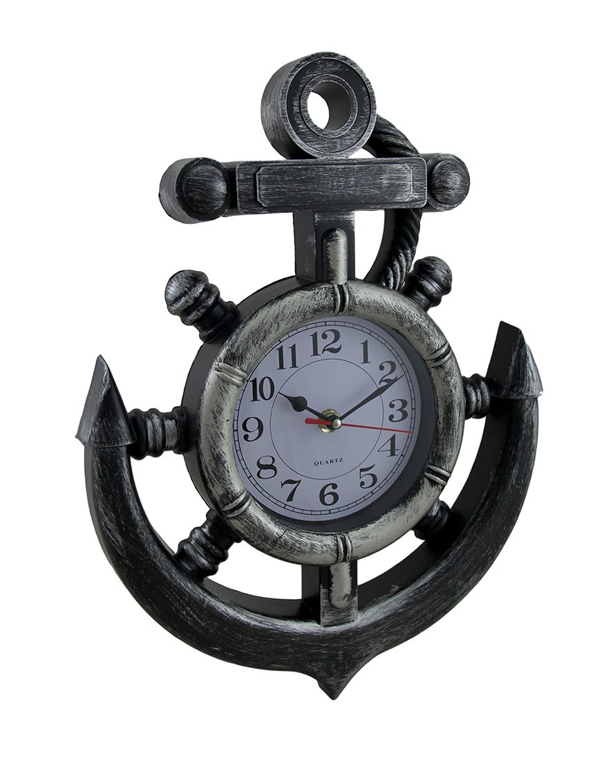 Nautical Anchor Design Wall Clock