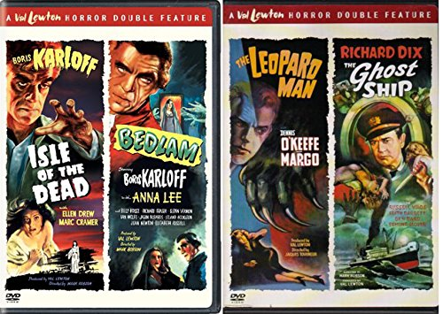 Val Lewton 4-Movie Set: Isle of the Dead / Bedlam / The Leopard Man / The Ghost Ship 2-DVD Cult Film Bundle