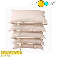 "Snoopy Fiber Filled 5 Piece Pillow Set - 17"" x 27"", Antique White"