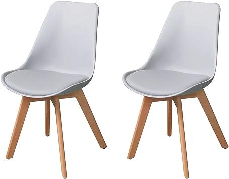 de poignée pour 2 Salle mangerBureauChaise de Scandinave Lot chaises EBS 2 Tulipe à maisonsalonchambrecuisine 2 piècesBlancLot sans 5c34ASjLqR