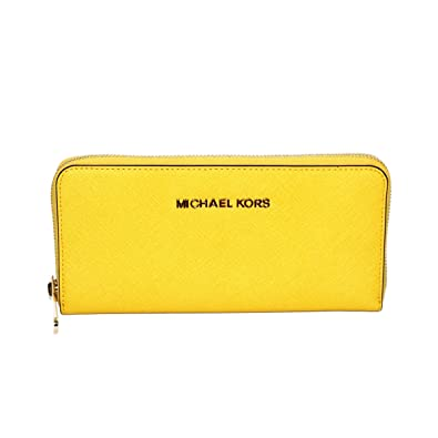 edea3d12567973 Michael Kors Jet Set Travel /continental Genuine Leather Wallet/ Clutch  Citrus (Yellow) #32S3GTVE3L: Handbags: Amazon.com