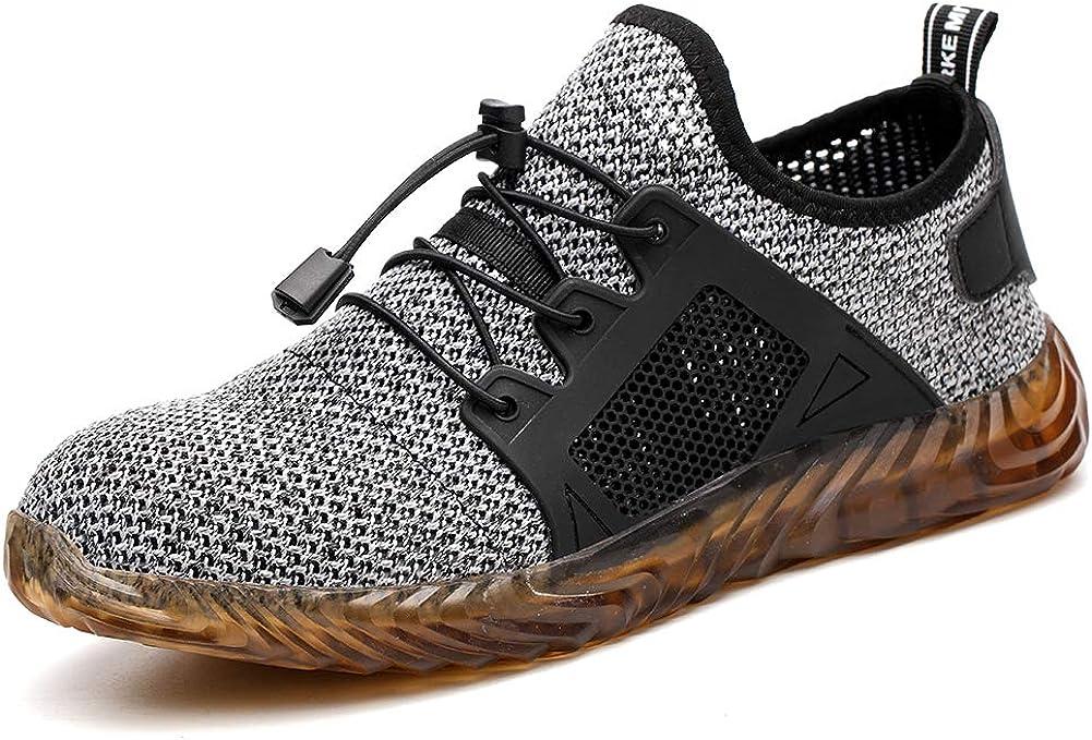 tqgold Zapatos de Seguridad para Hombre Mujer S3 Zapatillas de ...