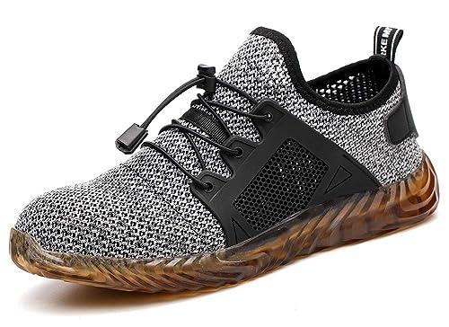 00b346ec155a3 tqgold Safety Shoes Men Women S3 Work Steel Toe Caps Shoes Summer ...