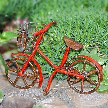 Amazon.com: Jardín de hadas bicicleta rojo: Jardín y Exteriores
