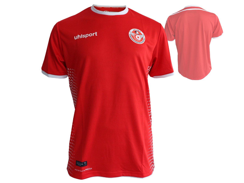 RED uhlsport 2018-2019 Tunisia Away Football Shirt