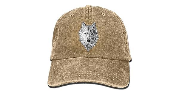 gatetop Big Wolf Head Denim Gorras de b/éisbol Sombrero Ajustable Algod/ón Correa Deportiva para Hombres Mujeres
