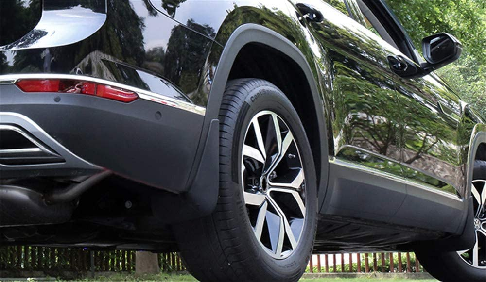 Bishop Tate for VW Volkswagen Atlas 2017-2020 Black Exterior Front /& Back Mud Flaps Splash Guard Flaps Fender Plastic Car Accessories 4PCS