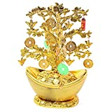 """9"""" Feng Shui Gold Coins Money Tree in Yuan Bao Home Decor Wealth Gift US Seller"""