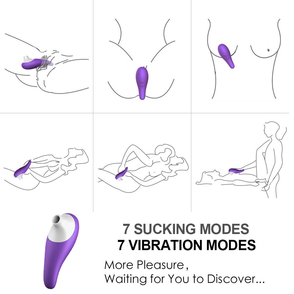 Wellness Magic Handheld Sucking§ Toys Massager Waterproof Womans Massager Safe Medical Grade Silicone Mini X Toys for Women Body Outdoor Travel for Easy Carry New Style Women Handbag by ahuayi (Image #5)