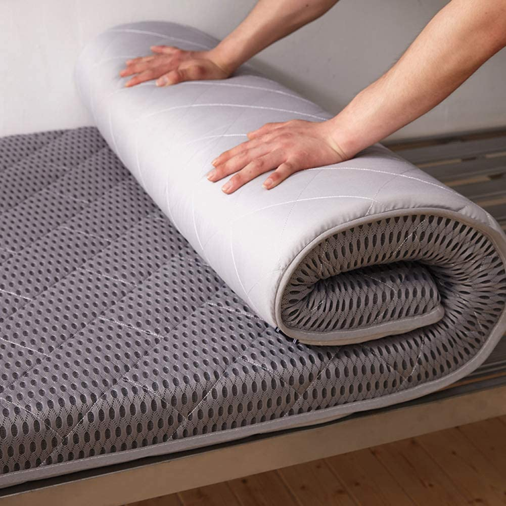Sleeping Tatami Floor Mat, Breathable Futon Tatami Mattress Pad Soft Thick Japanese for Student Dormitory Mattress-b King