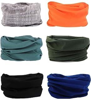 Seamless Multifunctional Headwear Bandana Scarf - 6 PCS Elastic Tube Magic  Headband Gaiter… 27bb2d78062