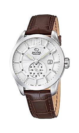 Jaguar Watches J663/1 - Reloj analógico de Cuarzo para Hombre con Correa de Piel, Color marrón: Amazon.es: Relojes