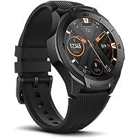 Ticwatch Smartwatch S2, Wear OS von Google Fitness Uhr, für Outdoor-Abenteuer, 5 ATM wasserdicht und geeignet fürs Schwimmen, haltbar, kompatibel mit iPhone und Android-Midnight