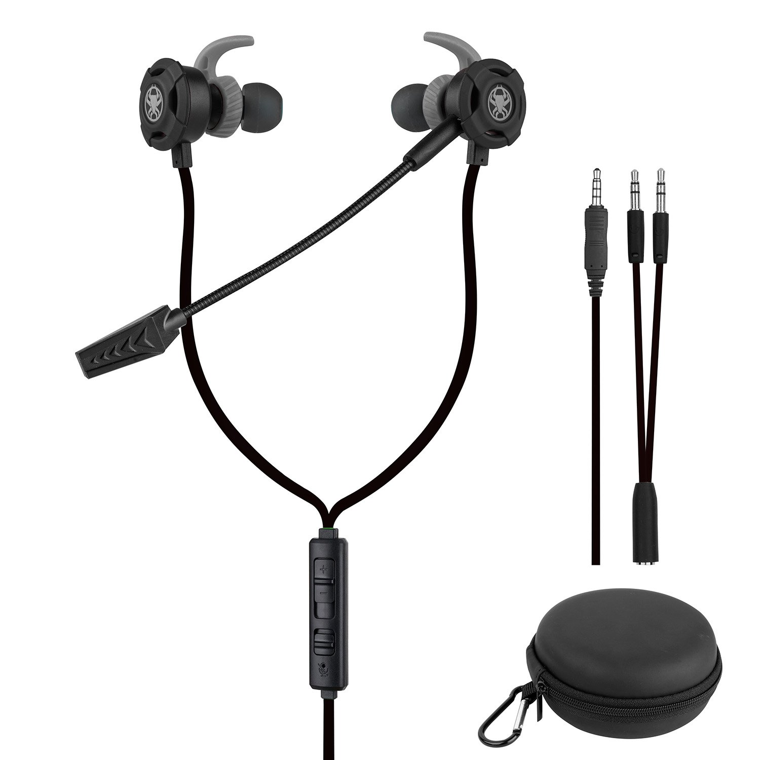 BlueFire 3.5 MM Gaming Headphone Wired Gaming Earphone Noise Cancelling Stereo Bass E-Sport Earphone with Adjustable Mic for PS4, Xbox One, Laptop, Cellphone, PC (Black)