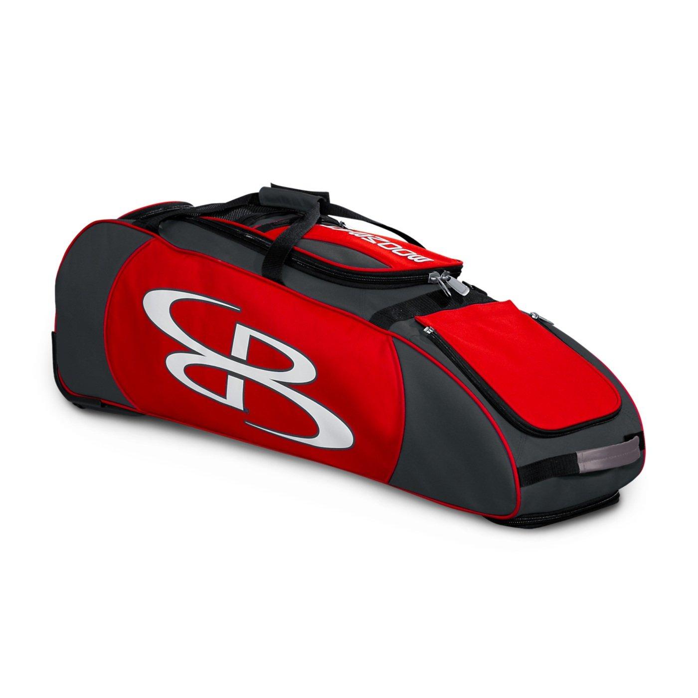 Boombah Spartan ローリングバットバッグ 野球用 ソフトボール用 38インチ×12-1/2インチ×12インチ 43種類のカラーオプション 4本のバット他 B01NACPBNU Dark Charcoal/Red Dark Charcoal/Red