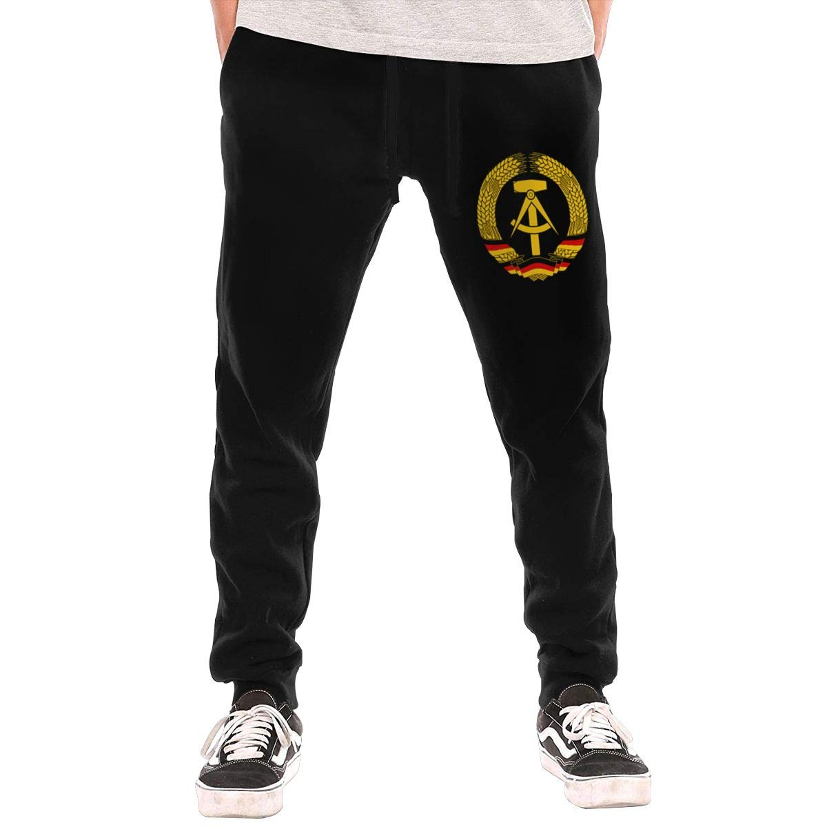 Fingertip Fashion Coat of Arms of Germany Boys-Mens Long Slim Fit Fitted Casual Workout Activewear Pants Athletic Sweatpants