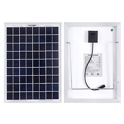 MEGSUN 10W 12V Mono Solar Panels for Cars, Caravans, Campers, Boats-with a 5m Crocodile Clip-Solar Panels with Supports : Garden & Outdoor