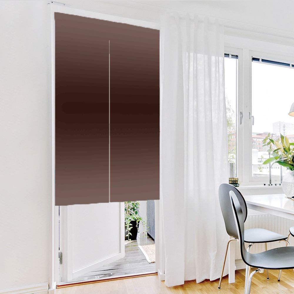 Cortina de puerta (dos paneles) a la moda, madera de ombreo, árbol de leña, barro inspirado en la naturaleza, temática marrón oscuro, diseño moderno, impresión artística, marrón, personalización personalizada, 27,6 x 35,4