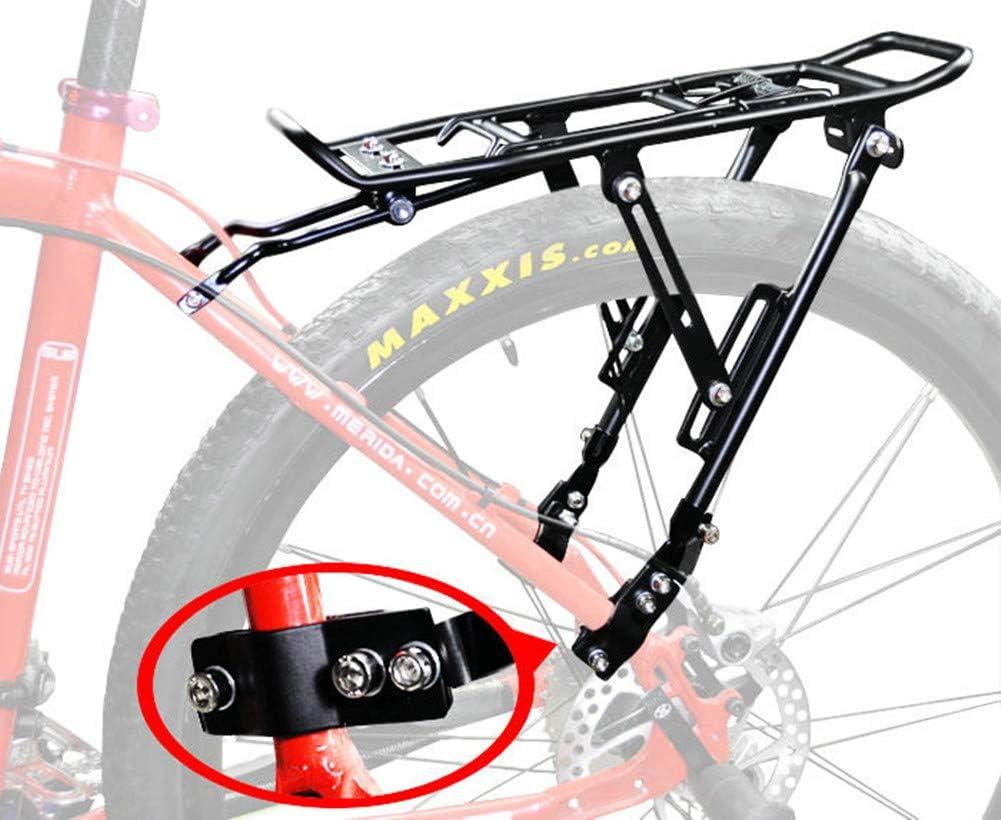 LQFLD Accesorios para Bicicletas, Bicicleta Portador Trasero Carga Aleación Protect Pannier Rack Bolsa De Asiento Ciclo De Equipaje Bicicleta De Montaña Negro,A: Amazon.es: Deportes y aire libre