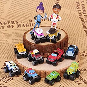 gg Blaze And The Monster Machines Vehicle 12 PCS Action Figure Toys Cake Topper US