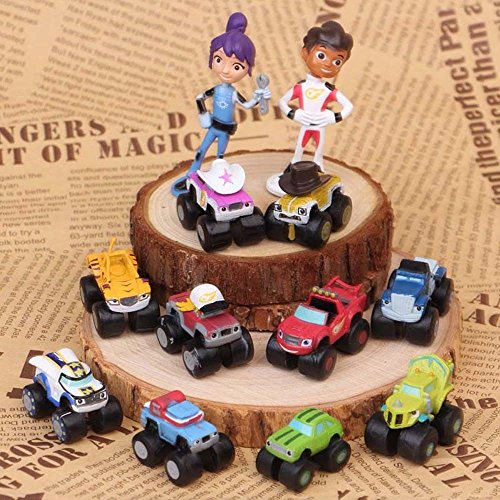 gg Blaze And The Monster Machines Vehicle 12 PCS Action Figure Toys Cake Topper (Disney Halloween Parade Cd)