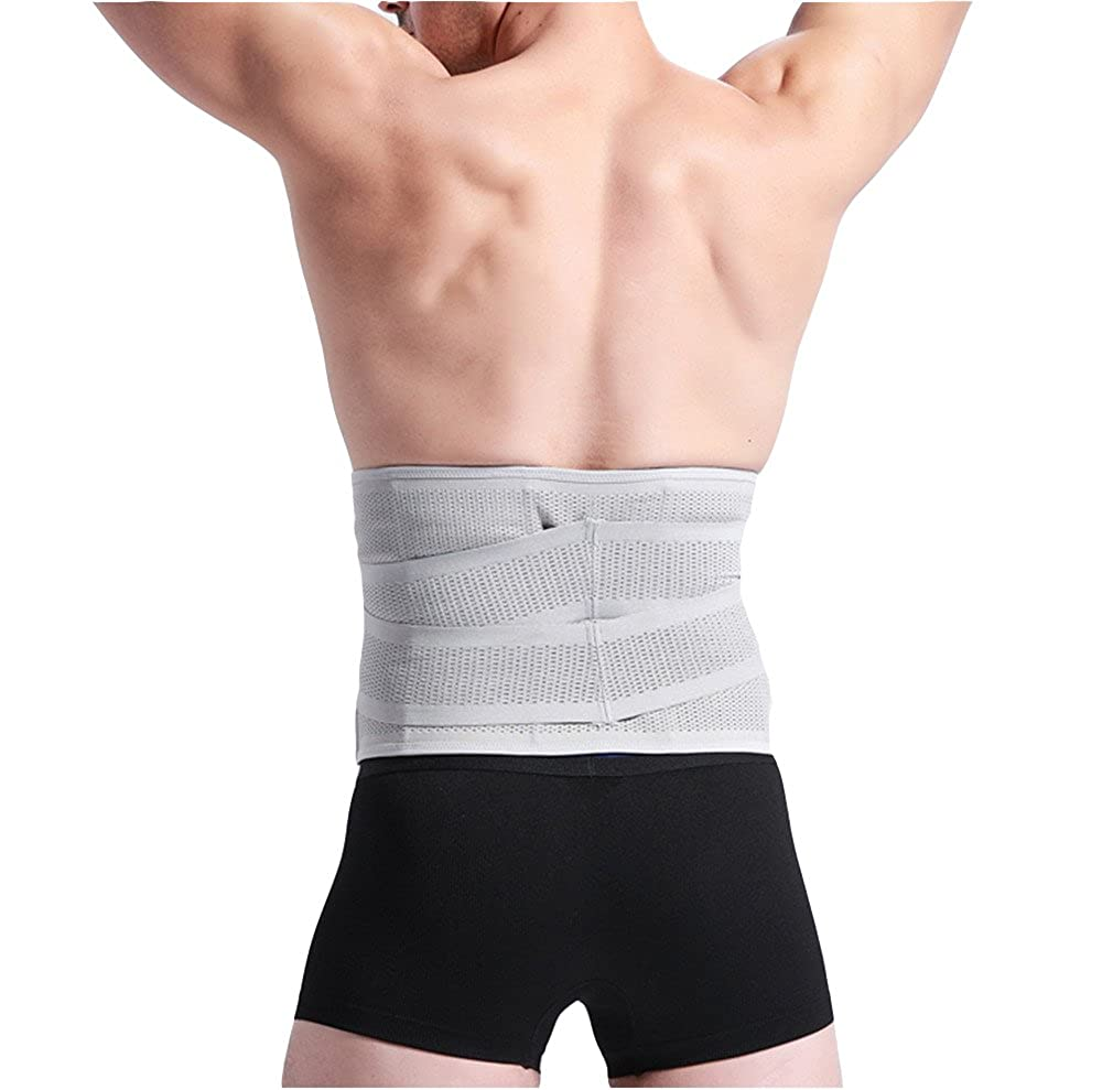 Mens Adjustable Workout Waist Trimmer Support Lower Back /& Lumbar Slimming Belt