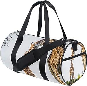 Small Duffle Bag Mother Giraffe And Baby Amazing Gym Bag Sport Duffel Bag for Women Teen Girls Traveling