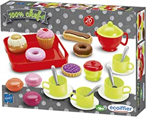 Simba Ecoiffier Chef Tea and Pastries Set, Multi-Colour, 26 Accessories