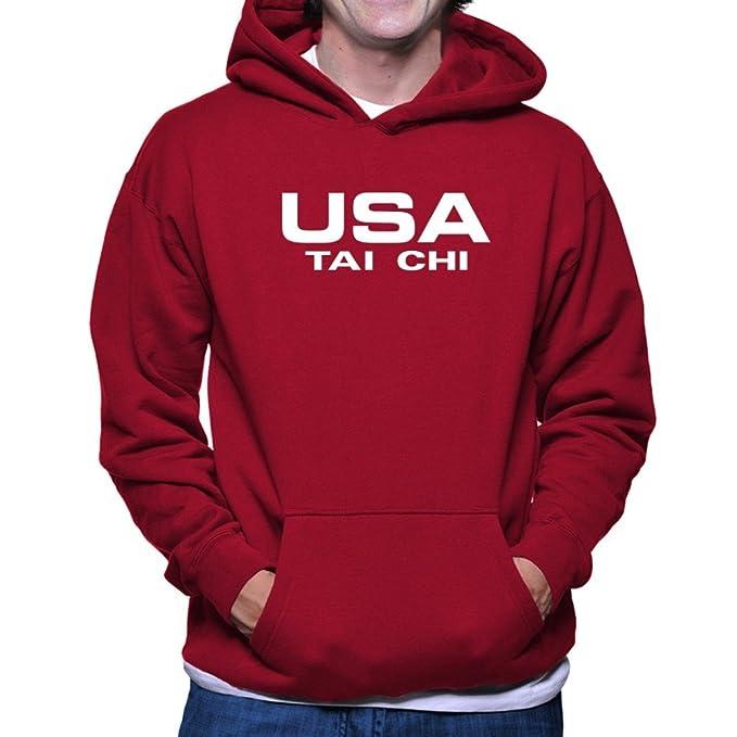 Teeburon USA Tai Chi ATHLETIC AMERICA Sudadera con capucha: Amazon.es: Ropa y accesorios