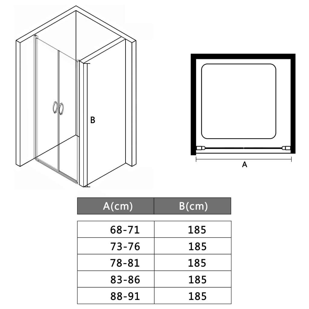 70x185cm UnfadeMemory Puertas para Cabina de Ducha con Asas Modernas,Puertas de Ducha,Decoraci/ón de Ba/ño,Estructura de Aluminio,Claras ESG