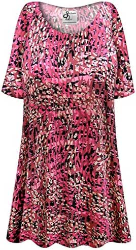 Raspberry Fields Slinky Plus Size Supersize Extra Long A-Line Top
