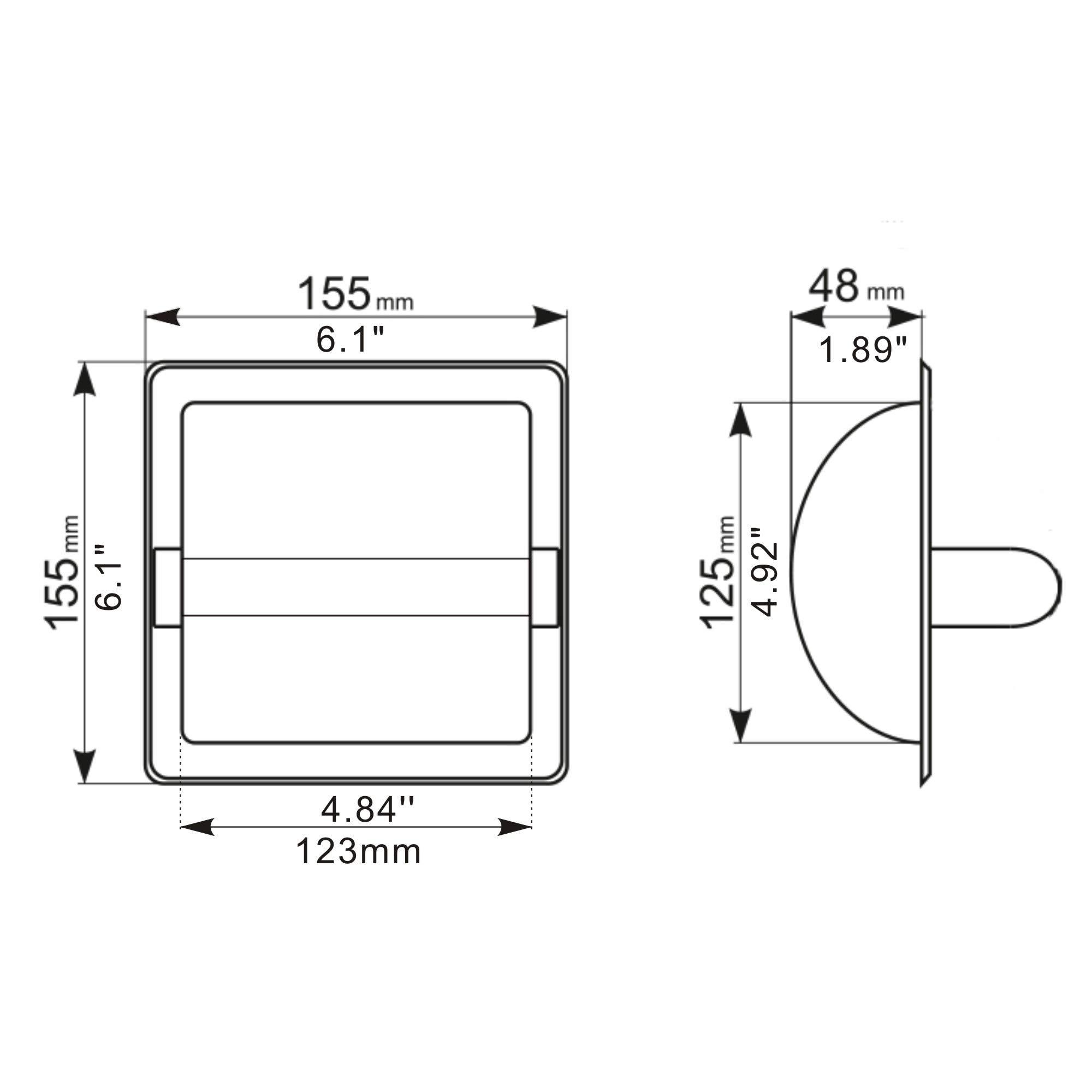 JunSun Brushed Nickel Recessed Toilet Paper Holder Wall Toilet Paper Holder Recessed Toilet Tissue Holder Stainless Steel Toilet Paper Holder Rear Mounting Bracket Included by JunSun (Image #3)