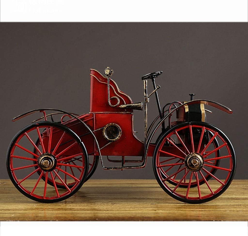 LINGLING-Modelo Metal Modelo Retro Decoraci/ón Hierro Forjado Calabaza Modelo De Coche Joyer/ía del Gabinete del Vino TV Gabinete Estanter/ía Pantalla Color : Red