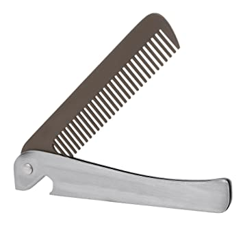 Hair & Beard Comb, Anself Metal Mustache Comb Anti-static Facial Hair Brush