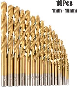 HSS Metric Jobber Drill Bits 10 Pack 2.5mm Metal Steel Plastic Wood