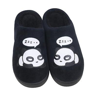 5ed5a7ef36de1 QZBAOSHU Hiver Femme Chaussons Panda Chaussures Homme 36 38 EU (Taille de l