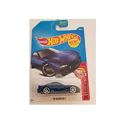 Hot Wheels 2020 Then and Now '95 Mazda RX-7 336/365, Blue: Toys & Games