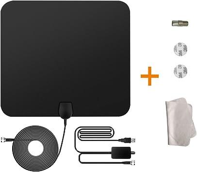 Antena de TV, Hommays 50 Miles Digital HDTV Antena Antena interior con amplificador separable Amplificador de señal (estilo clásico) (Mejorar): Amazon.es: Electrónica