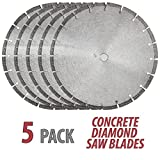 5QTY 14'' DIAMOND SAW BLADE CONCRETE BRICK BLOCK STONE ROCK MASONRY 10MM Segments