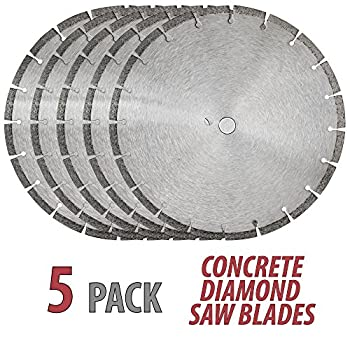 Image of Home Improvements 14' Sintered 10mm Wet/Dry General Purpose Concrete Diamond Saw Blade (5 Pack)