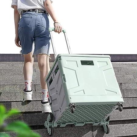 JLXJ Carritos de la Compra Caja Carrito de Compras Plegable/Trolley, Plástico Grande, Resistente, Escalador Azul Tienda de Comestibles Caja Fuerte, para Adultos Mayores (Size : 42×37.5cm×102cm): Amazon.es: Hogar