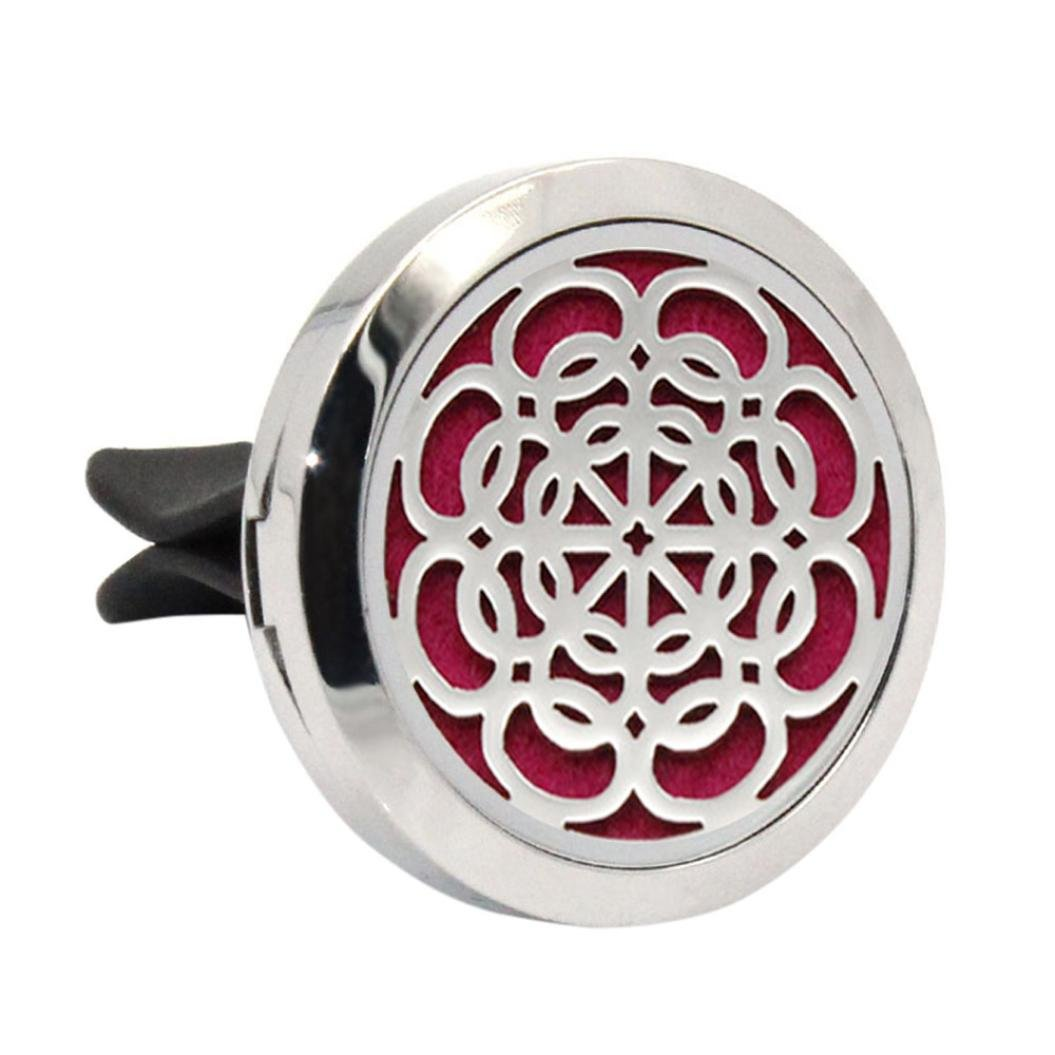 Iuhan Stainless Car Air Auto Vent Freshener Essential Oil Gift Decor Clip Decoration (G)