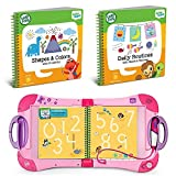LeapFrog LeapStart Preschool To 1st Grade Learning System Pink Plus Level 1 Activity Books, Learn Basic Skills For Life, Kids Fun Interactive Toys and Books, Educational Tools, Early Schooling Bundle