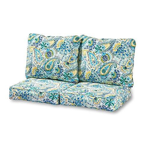 - Greendale Home Fashions Deep Seat Loveseat Cushion Set in Baltic